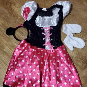 Minnie Mouse Juniors Costume -One size fits most